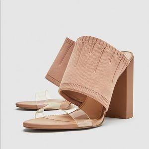 Zara Sandals with Vinyl Strap Detail